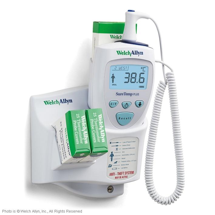 SureTemp Plus Modell 692, elektronisches Thermometer, mit rektaler Sonde und Wandhalterung