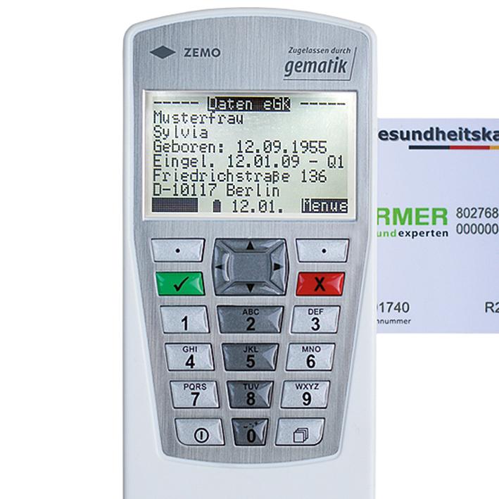 mobiles Chipkartenlesegerät VML-GK2 (1+), weiß/silber, nicht telematik geeignet