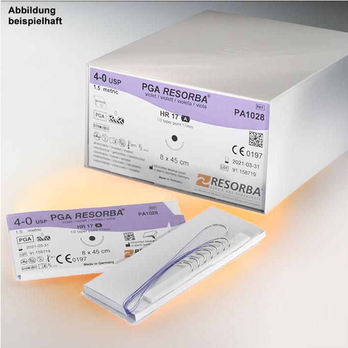 PGA-RESORBA DSM 18 3/0=2 ungefärbt, Nahtmaterial Fadenlänge 45 cm (24 Stck.)