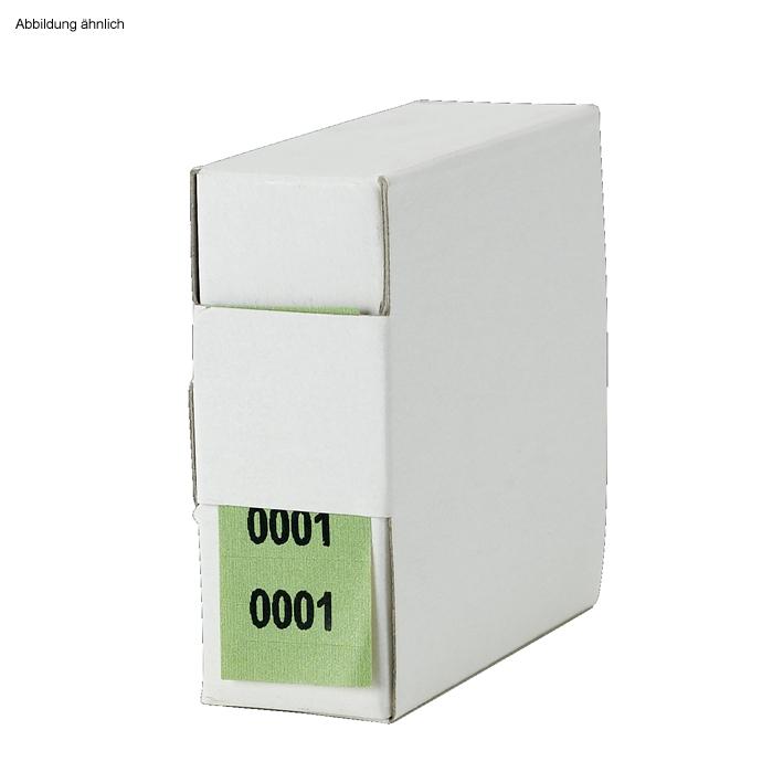 Archiv-Nummern, doppelt, 9001 - 10000, grün