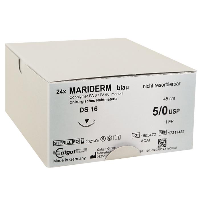 MARIDERM DS 16 5/0=1, blau, monofil, Nahtmaterial Fadenlänge 45 cm (24 Stck.)
