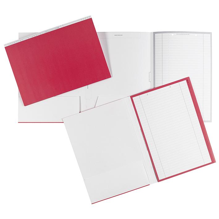 Karteimappen DIN A4 quer rot für alle Fachrichtungen (100 Stck.)