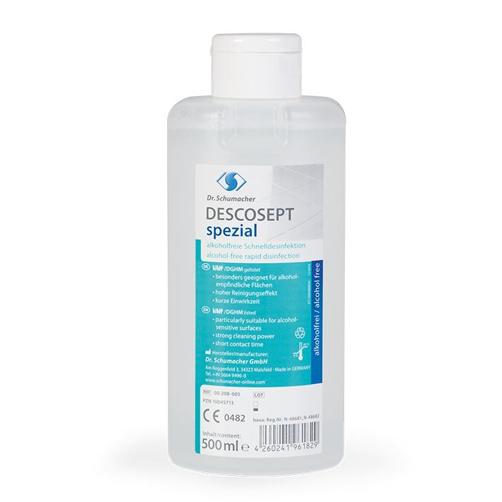 Descosept Spezial 500 ml, Flächenschnelldesinfektion, Descoflexflasche