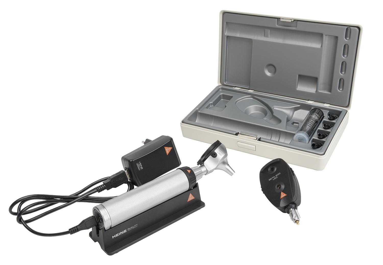 BETA 200 Ophthalmoskop/Otoskop Set LED, BETA 4 USB Ladegriff, USB Kabel und, Steckernetzteil