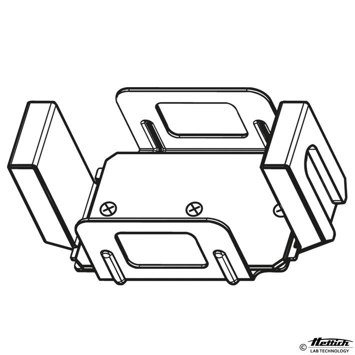 Leichtmetall-Nutgehänge für Mikrotiter-, Kultur-, DeepWell und Filterplatten, Micronic System