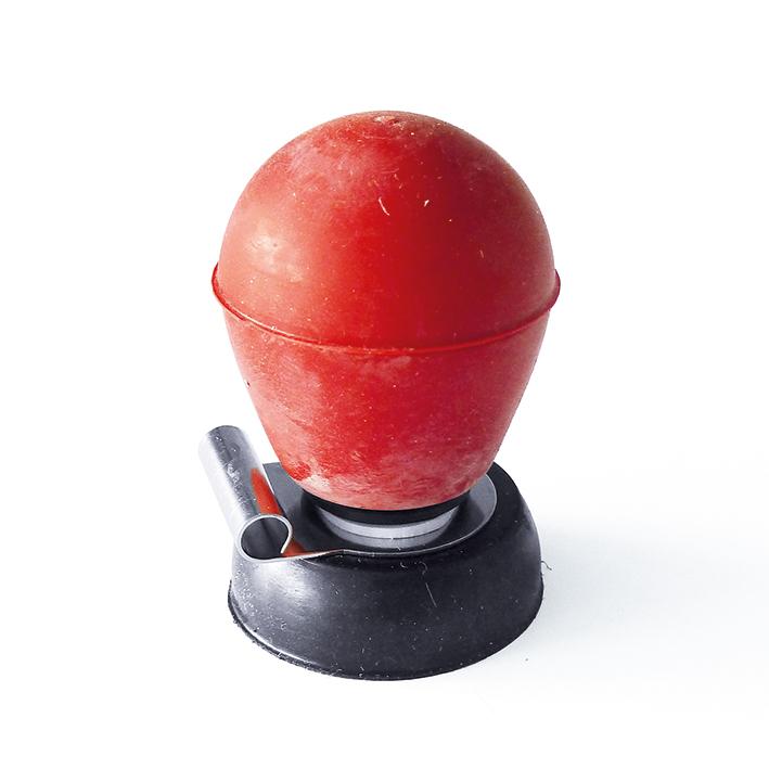 Brustwandsaugelektrode rot, für Hellige, 4 mm Bananenstecker-Anschluss
