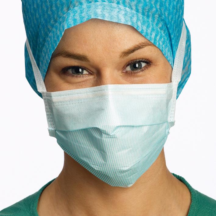 Barrier Surgine II OP-Maske, Anti-Fog, hypoallergen, blau (60 Stck.)
