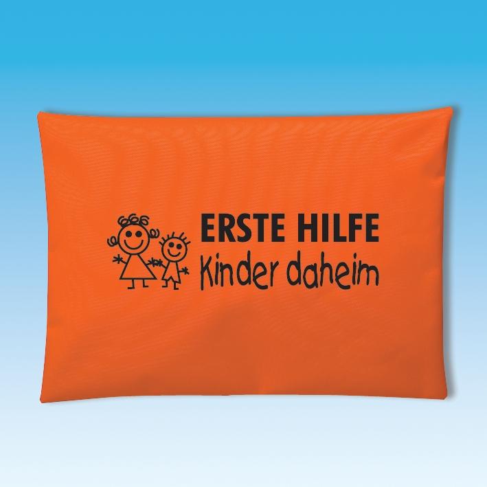 Erste-Hilfe-Tasche Kinder daheim, orange