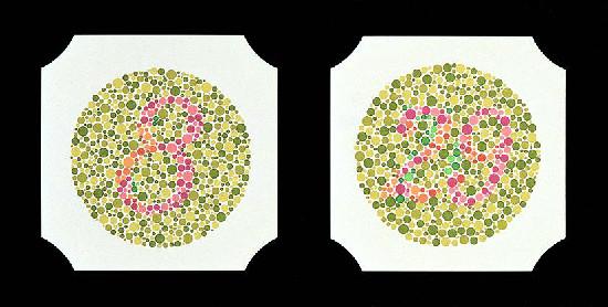 Farbtafeln nach Ishihara, Buch mit 38 Stck., gebunden
