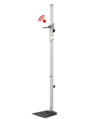 integrationsfähiges Stadiometer seca 264, zur Wandmontage, mit leicht zu reinigender Fußmatte