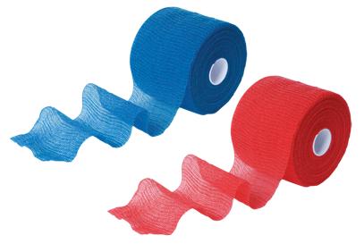 Elastische Binden, mittlerer Zug, haft krepp color 6cmx20m, blau