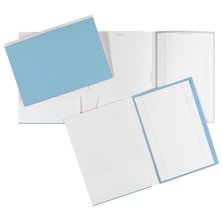 Karteimappen DIN A4 quer blau für alle Fachrichtungen (100 Stck.)