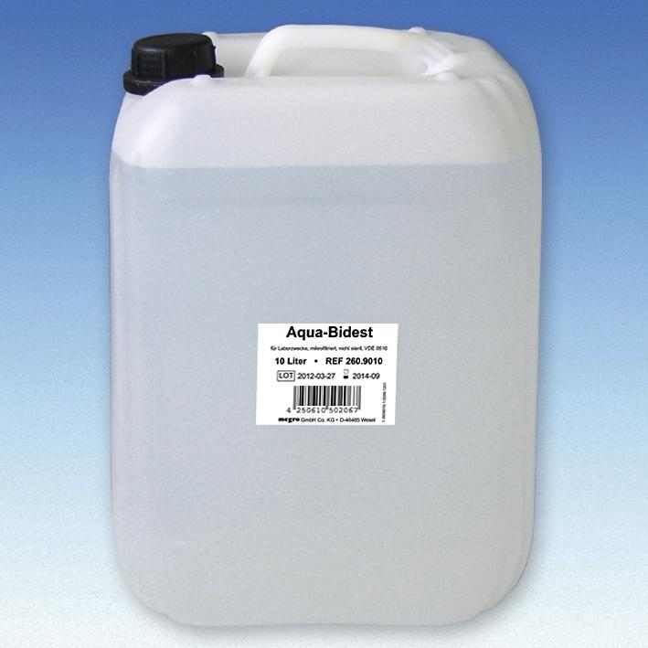 Aqua-Bidest 10 Ltr. Laborwasser