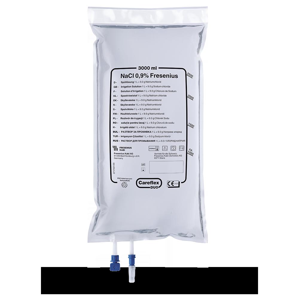 isot. Kochsalzlösung, Careflex-Duo-Beutel (4 x 3000 ml)