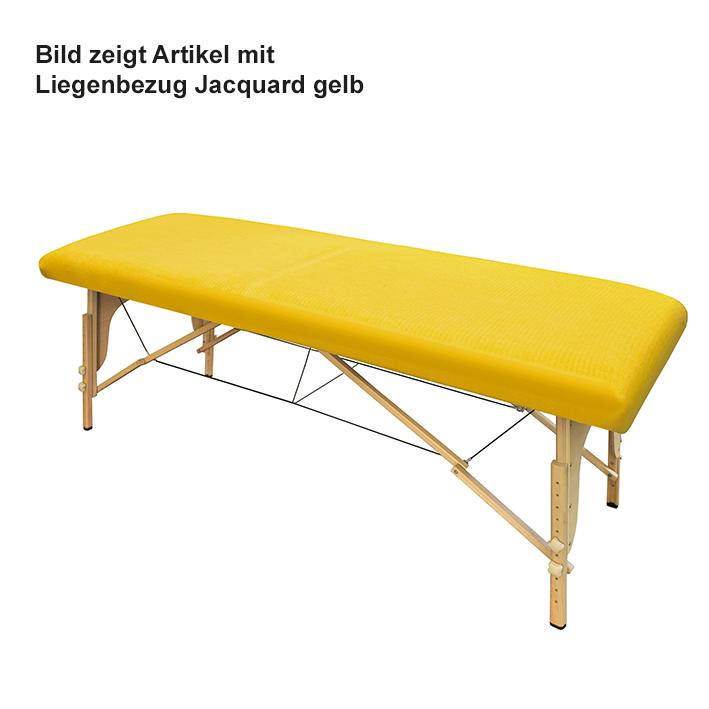 Liegenbezug Jacquard-Frottee gelb, 80 x 200 cm