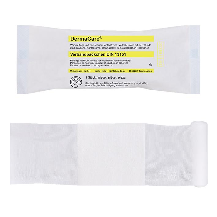 DermaCare Verbandpäckchen, DIN 13151 klein, steril
