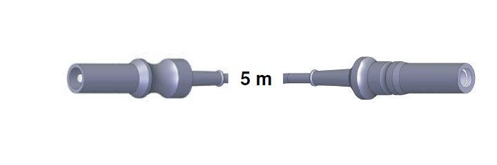 Anschlusskabel AES-BER-MAR -> ERBE, 5,0 mtr.