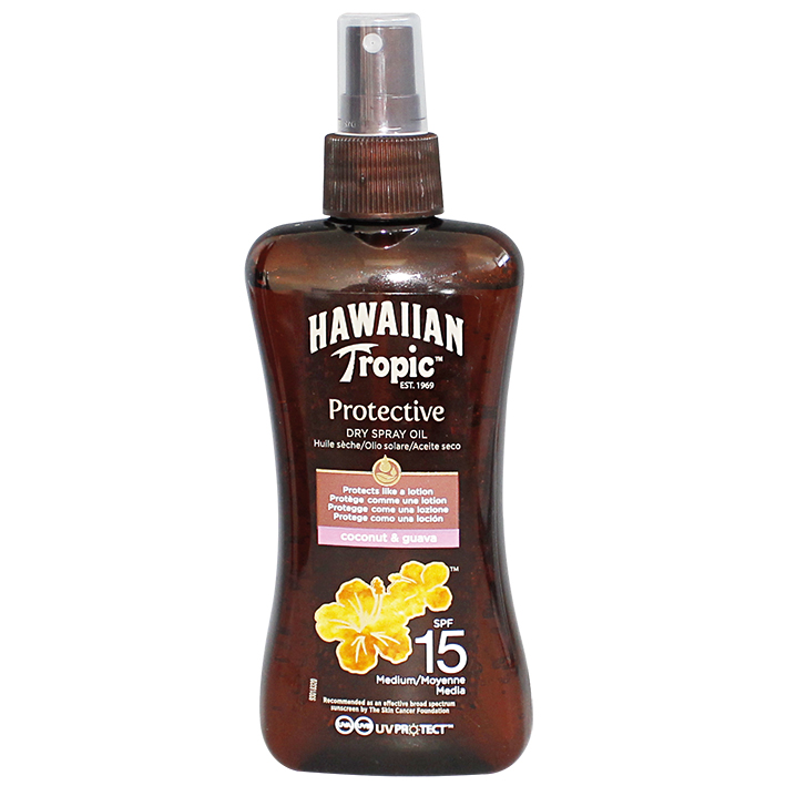 Hawaiian Tropic Protective Dry Spray Oil 200 ml LSF 15