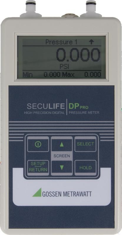 Seculife DP Pro, Digitales Messgerät für Druck bis 100 PSI / Vakuum bis 13.50 PSI, Min/Max Capture