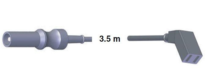 Bipolar Anschlusskabel, ERBE -> Aesculap, 3,5 mtr.