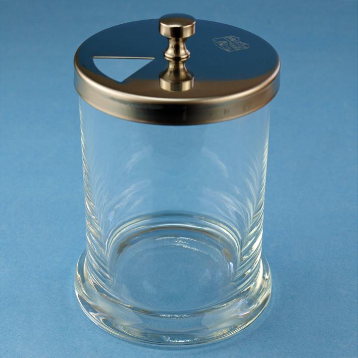 Kornzangenglas mit Edelstahldeckel, 20 cm x 8 cm Ø