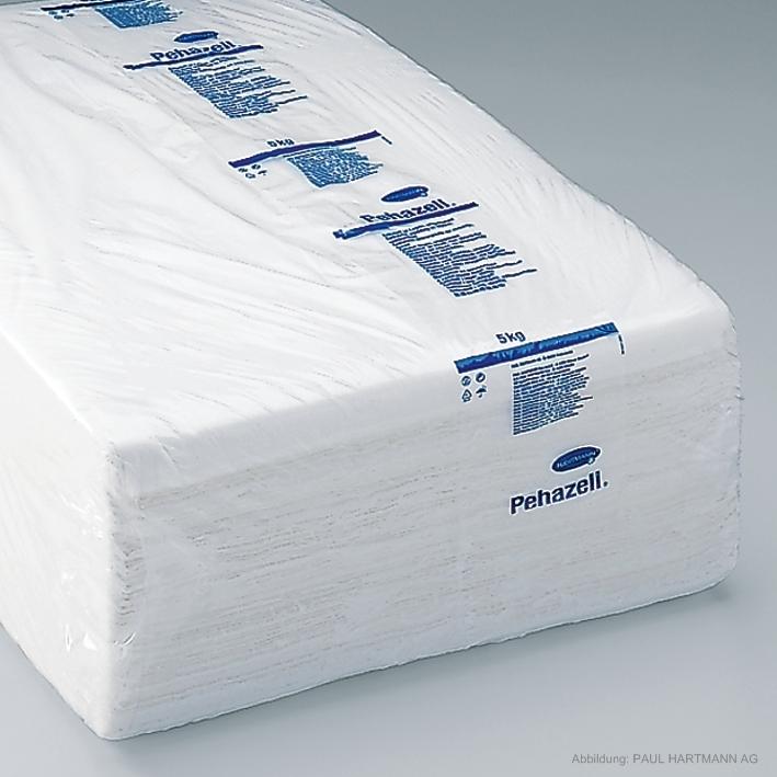 Pehazell ungebleicht, Zellstoff in Lagen 3 x 5 kg, 37 x 57 cm