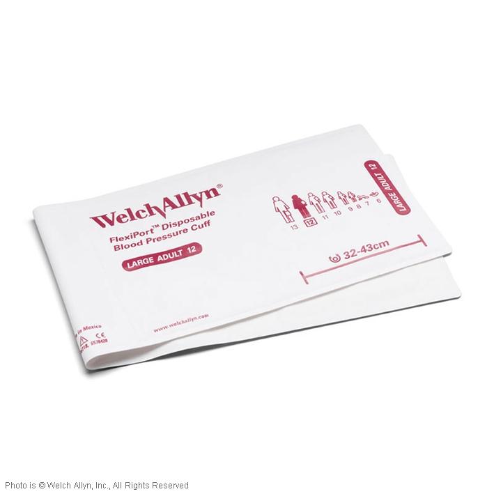 FlexiPort Einmal-Manschetten (20 Stck.), ohne Schlauch, für Erwachsene groß, ohne Geräteanschluss