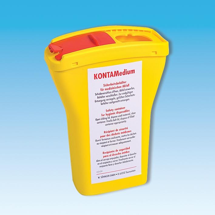 KONTAMedium Kanülensammler ca. 440 ml, ca. 152 mm hoch