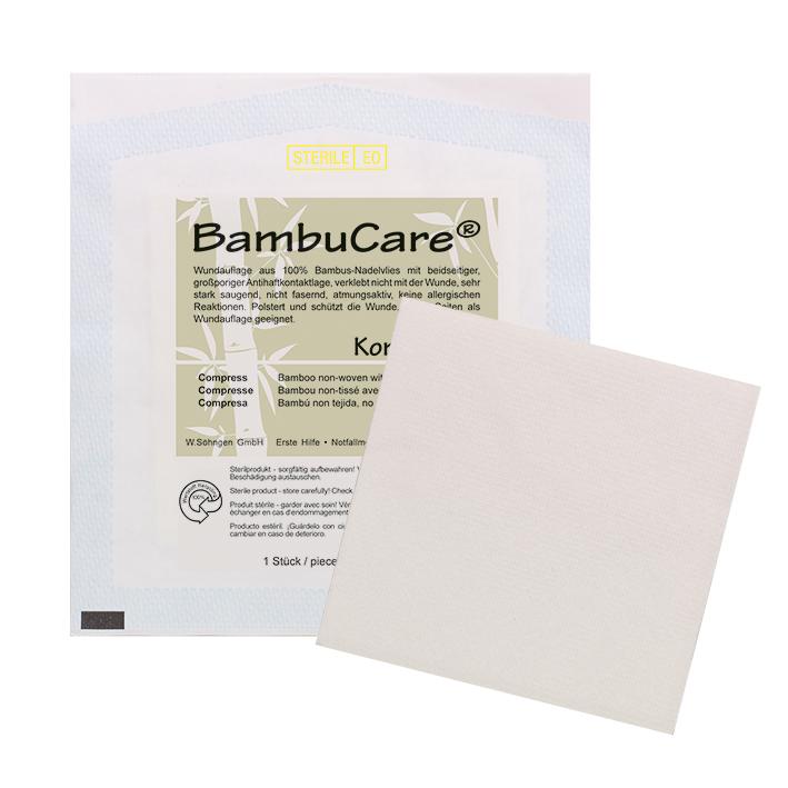 BambuCare Kompresse, einzeln steril verpackt, ca. 10 x 10 cm