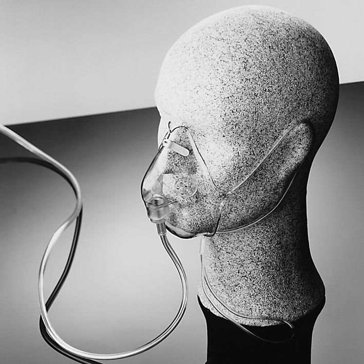 KENDALL Sauerstoffmaske für, Erw. mit Sicherheitsschlauch