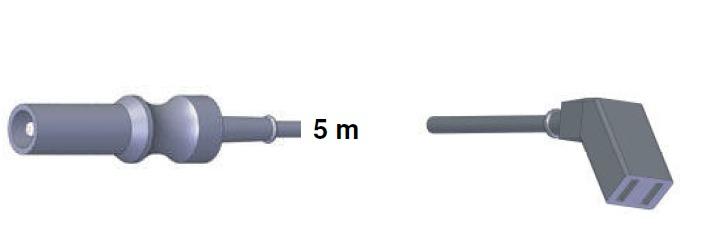 Bipolar Anschlusskabel, ERBE -> Aesculap, 5,0 mtr.