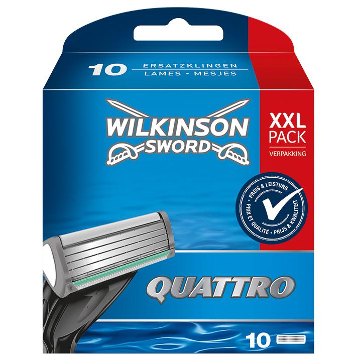 Ersatzklingen Typ 7095P für Wilkinson Quattro (10 Stck.)