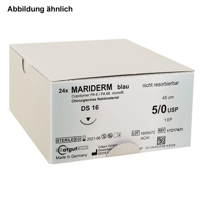 MARIDERM DS 19 5/0=1, blau, monofil, Nahtmaterial Fadenlänge 45 cm (24 Stck.)