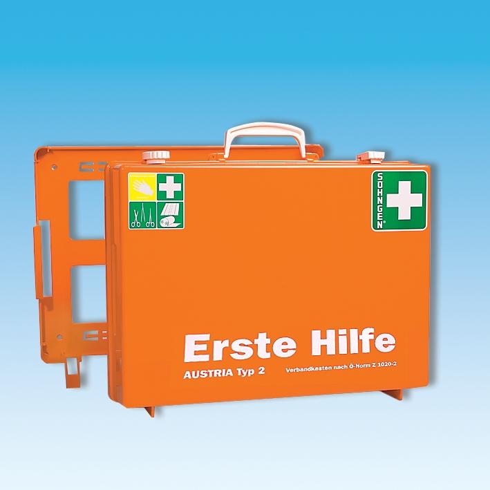 Erste-Hilfe Koffer MT-CD orange, Füllung Ö-Norm Z 1020-2