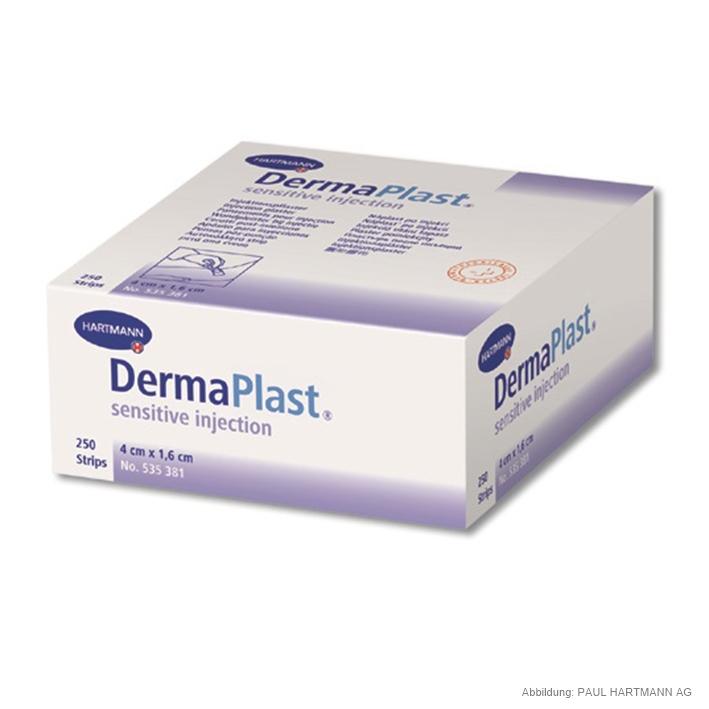 DermaPlast sensitive injection, Injektionspflaster 4 x 1,6 cm (250Stck.)