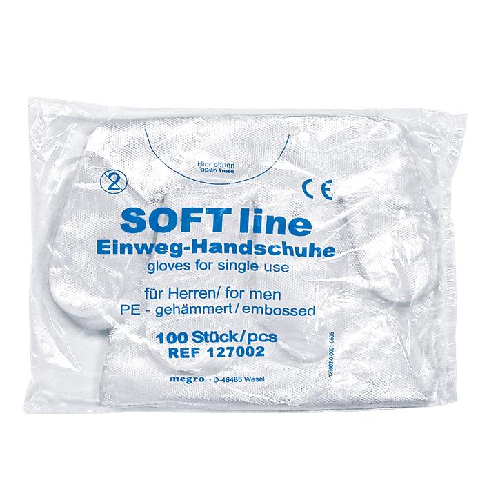 SOFT line PE-Handschuhe, Herren Beutel (100 Stck.)