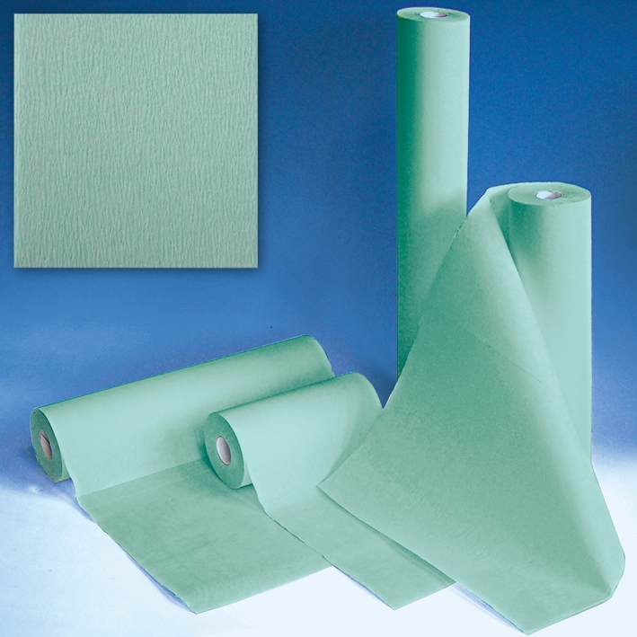 Sterilisierpapier Premier 60 cm x 100 m, gekreppt grün