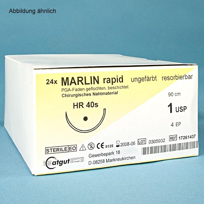 MARLIN rapid HR 17 4/0=1,5, (24 Stck.), Nahtmaterial Fadenlänge 70 cm, ungefärbt