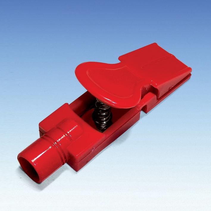 RT-Anschluss für TAB Elektroden mit 4 mm, Bananenstecker-Anschluss weiß (10 Stck.)