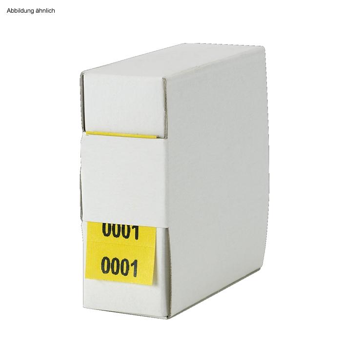 Archiv-Nummern, doppelt, 6001 - 7000, gelb