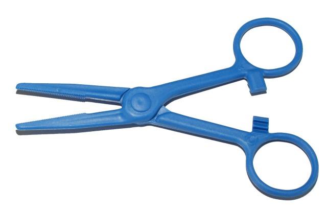 Arterienklemme, Pean, Blau, 130mm