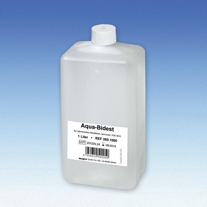Aqua-Bidest 1 Ltr. Laborwasser