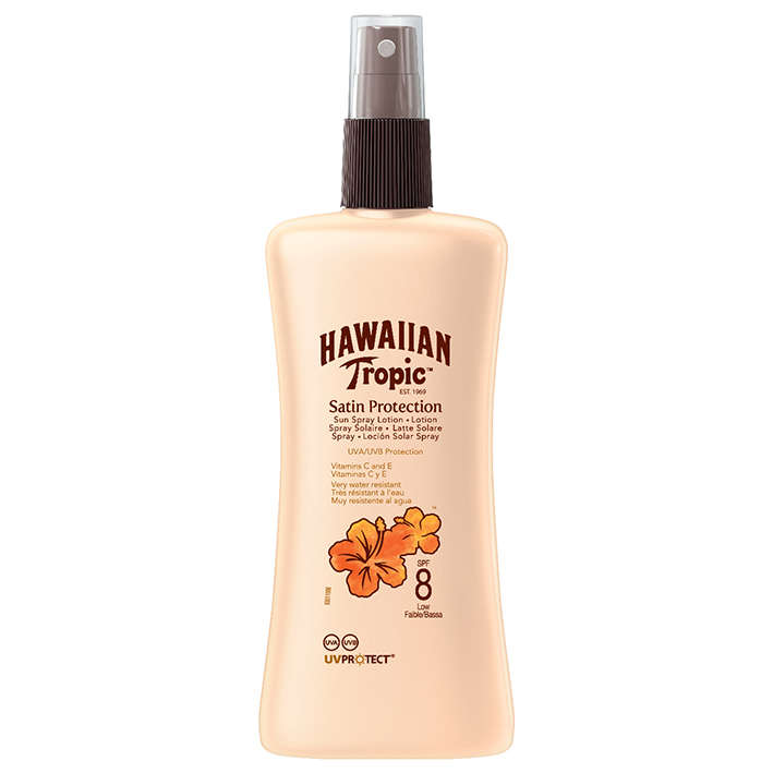 Hawaiian Tropic Satin Protection Sun, Spray Lotion 200 ml mit LSF 8