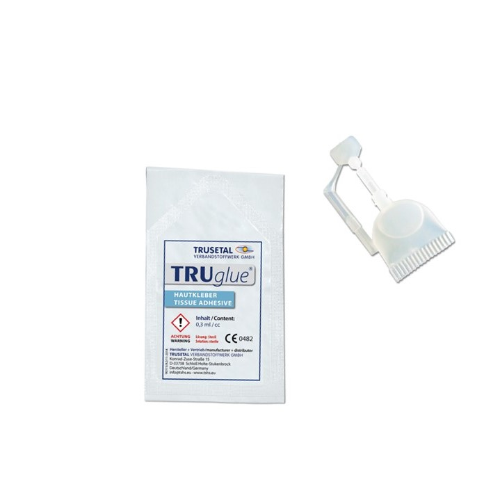 TRUGLUE Einmal-Haut- und Wundkleber, Single Dosen (25 Dosetten à 0,3 ml)
