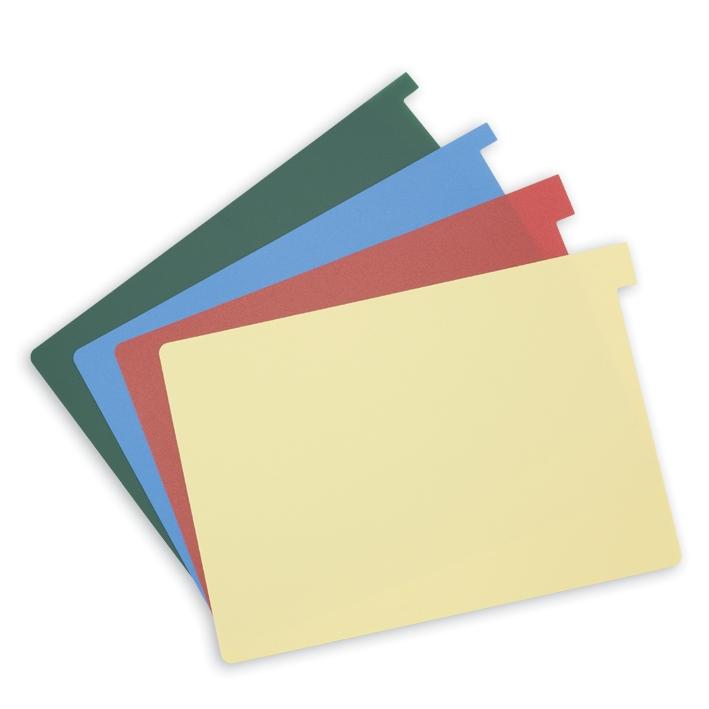 Signalkarten DIN A5, sort. in 4 Farben, (rot/gelb/grün/blau) (100 Stck.)