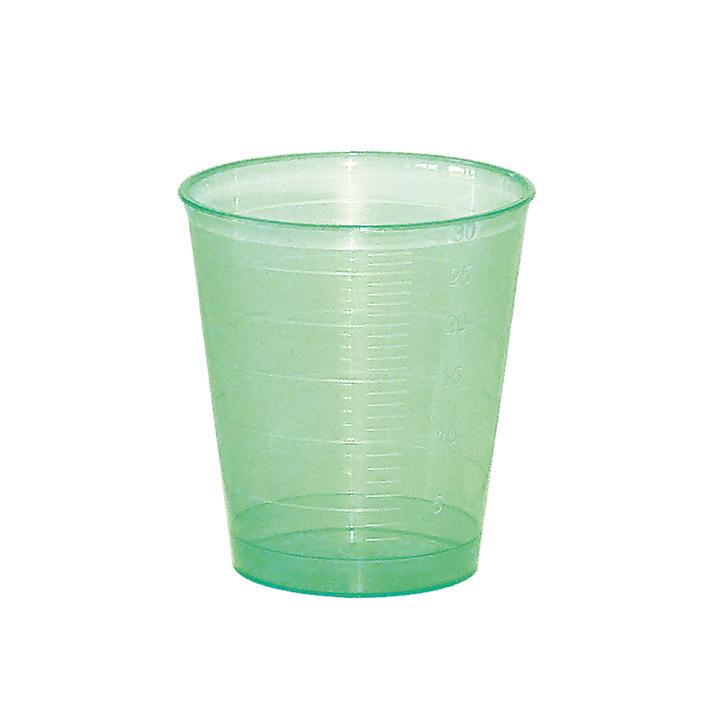Einnehmebecher grün (75 Stck.)