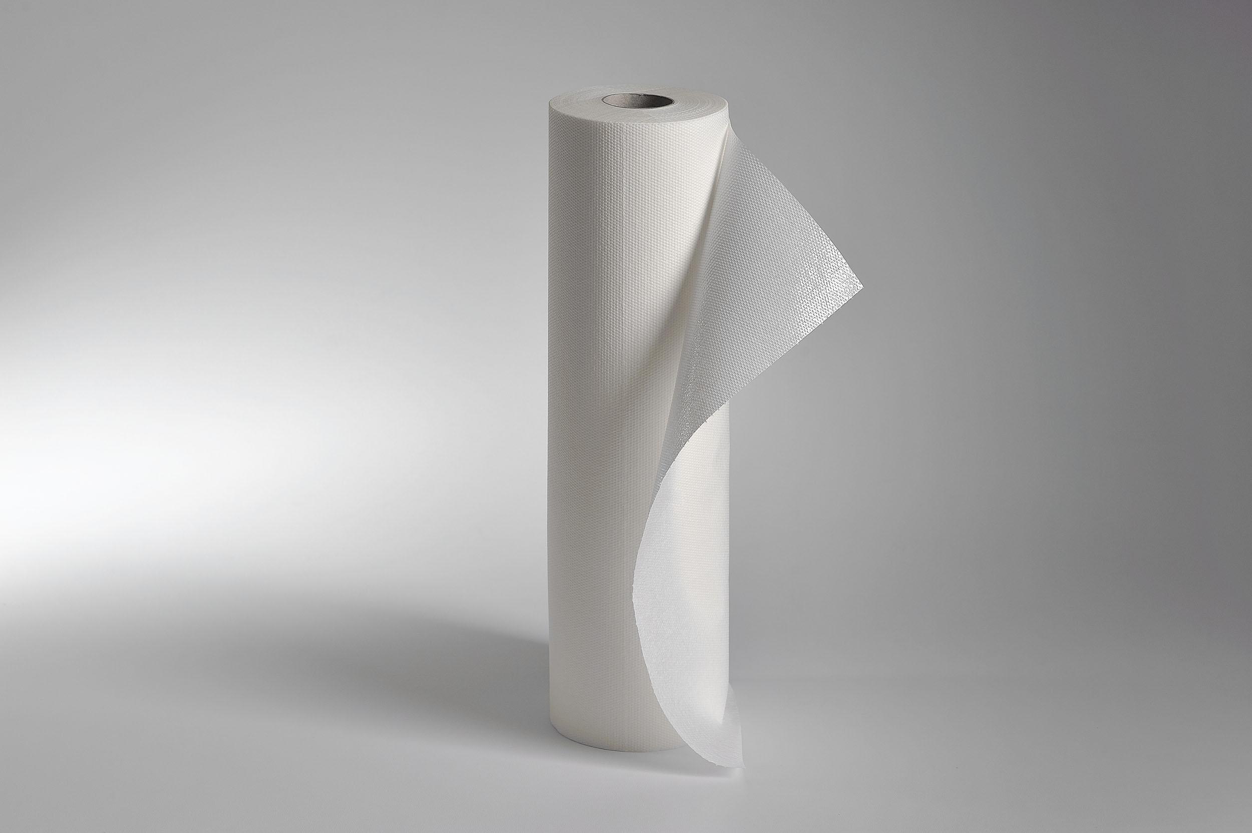 Fripa-Ärztekrepp secura-line, 2-lagig 39 cm x 50 m (6 Rl.), hochweiß, PE-beschichtet