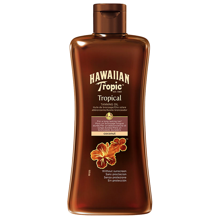 Hawaiian Tropic Tanning Oil dark 200 ml, ohne LSF #Y301017000#