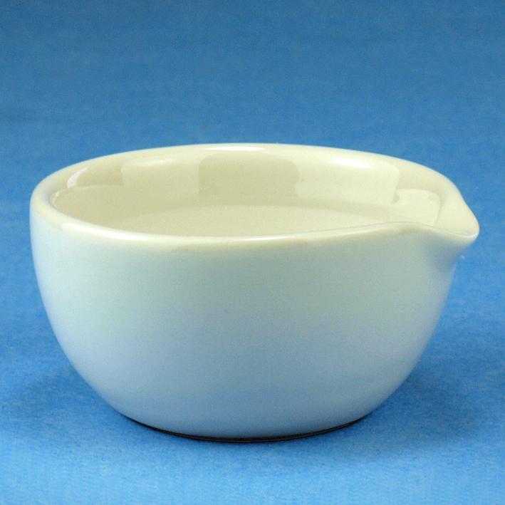 Mörser aus Porzellan mit Ausguss, ca. 100 mm Ø