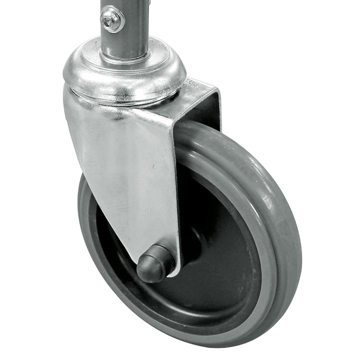 Ersatzrad ohne Bremse für Toilettenstuhl, MEG 964400 (neue Ausführung)